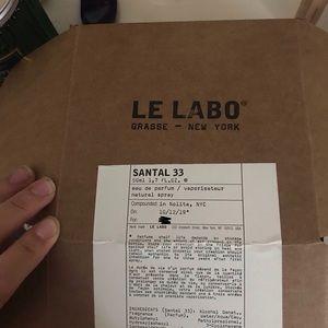 Le labo santal 33 new in box